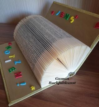Hardcover ca. 300 Seiten ~ mit Glitterpapier Gold eingeschlagen und Glitzerbuchstaben versehen